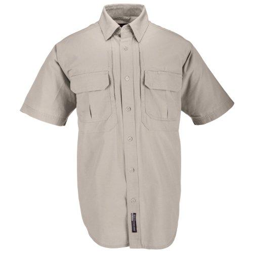 5.11 Tactical #71152 Cotton Tactical Short Sleeve Shirt (Khaki - L/s Shirt Firefighter Mens