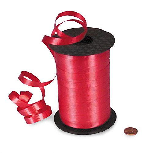 Red Crimped Curling Ribbon 3/8