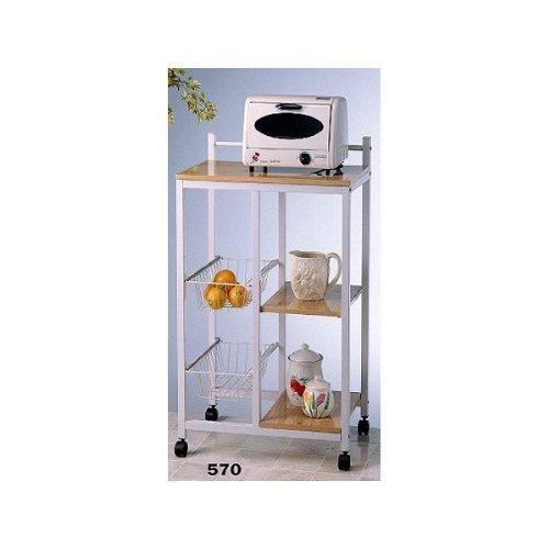 Natural Finish Microwave Cart - 9