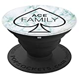 Ace Family Mint Teal Marble - PopSockets Grip and Stand for Phones and Tablets
