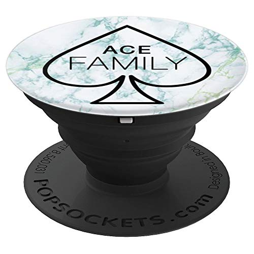 Ace Family Mint Teal Marble - PopSockets Grip and Stand for Phones and ()