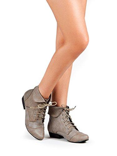 Breckelles - Ladies Indy-11 Bootie Boot, Black 38022-6B(M)US