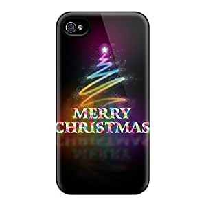 4/4s Scratch-proof Protection Case Cover For Iphone/ Hot Christmas Time Phone Case