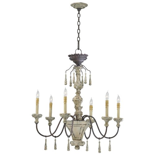 Cyan Design 6513-6-43 Provence 6-Light Chandelier in Carriage House - Lighting Provence Light Chandelier House