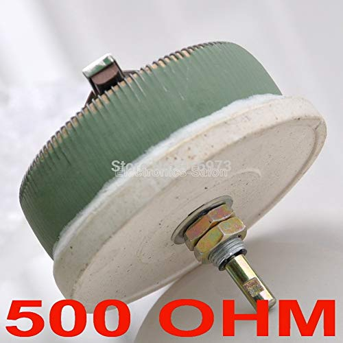 Isali Electronic - 100W 500 OHM High Power Wirewound Potentiometer, Rheostat, Variable Resistor, 100 Watts.