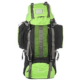 Impulse 75 Ltrs Green Trekking Backpack (Impulse 75 Ltrs Front Net Green)