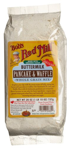Bob's Red Mill Buttermilk Pancake & Waffle, Whole Grain Mix, 26 Ounce Bags (Pack of 4)