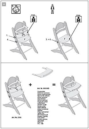motif Coussin dassise pour chaise haute SWING,Tissu Geuther hibou color/é