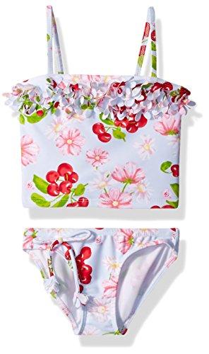 Kate Mack Toddler Girls' Cherries Jubilee Tankini Swimsuit, Blue, 3T