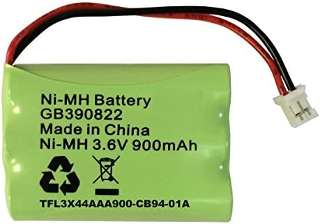 RECHARGEABLE BATTERY 3.6V COMPATIBLE WITH MOTOROLA MBP482 MONITOR GP80AAAHC3BMXZ