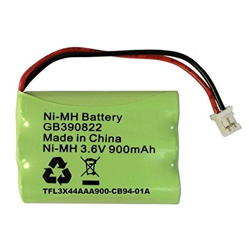 Batteria di ricambio per Motorola MBP36 baby monitor MBP36PU batteria ricaricabile NiMH 3, 6 V 900 mAh GB390822 TFL 3 x 44aaa900 - CB 94-01 Amp GBL