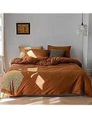 Nayoroom Solid Color Bedding Duvet Cover Set