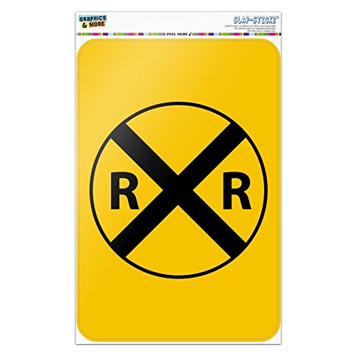 Railroad Crossing Traffic Sign Train Home Business Office Sign - Window Sticker - 6