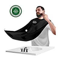 Beard Bib, IMAVO Beard Bib Shaving Mirror & Beard Catcher Apron for Shaving-Trim Your Beard in Minutes Without The Mess and Stop Clogging Your Sink …