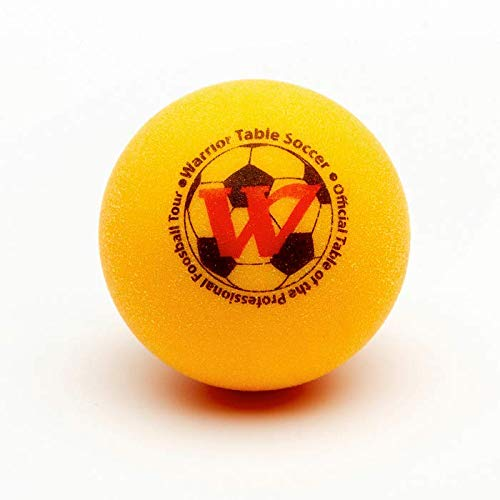 Warrior Table Soccer Foosball Table Replacement Foosballs - Official Tournament Game Ball- Tabletop Soccer Balls (8, Yellow)