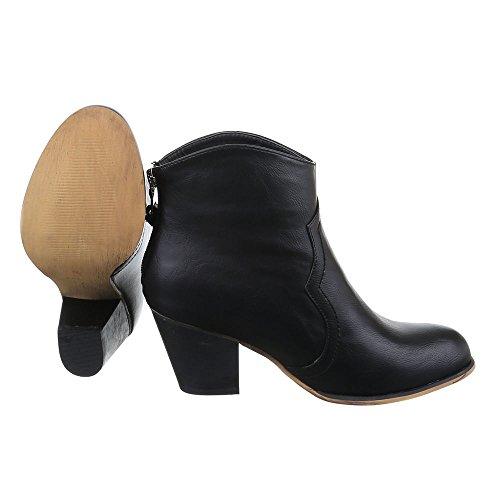 Ital-Design - Botas De Vaquero Mujer marrón