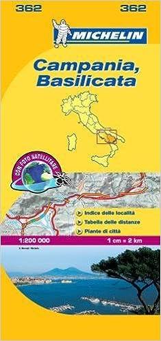 Michelin Map Italy: Campania, Basilicata 362 (Maps/Local (Michelin ...
