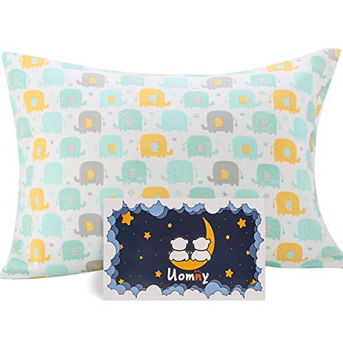 Kids Toddler Pillowcases UOMNY 1 Pack 100% Cotton Knitting Pillowslip Case Fits Pillows sizesd 14x 19