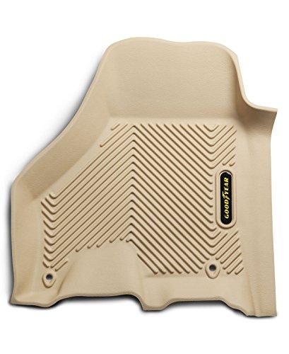 Goodyear Front Set Custom Fit Floor Liners for Select Dodge RAM Models - (Tan)