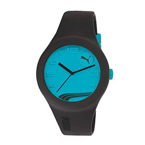 PUMA Lady´s PU103001009U FORM neon blue dial black band watch