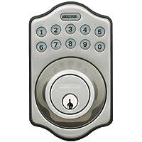 """lockstate electrónico sin llave cerradura de seguridad, Contemporáneo, 6""""H x 3""""W x 1.50""""D 7.50""""H x 2.85""""D, Níquel Satinado"""