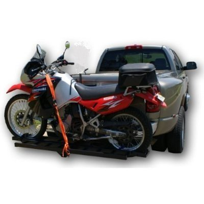 ALEKO Hitch Mounted Sport Motorcycle Carrier Hauler Rack Ramp 600Lb