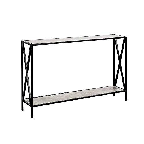 - Skinny Console Table Faux Birch Long XDesign Narrow Metal Wood Furniture Modern Storage Rack Entryway Living Room Office & eBook by JEFSHOP