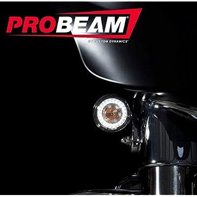 Custom Dynamics ProBEAM Amber/White Dynamic Ringz with Smoke Lens PB-AW-1157: Automotive
