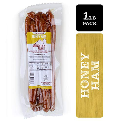 Wenzel's Farm Honey Ham Sticks - Gluten Free - No MSG - (1 LB - Forest Ham Black