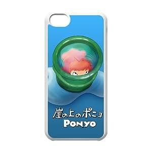 Ponyo funda iPhone 5c caja funda del teléfono celular del teléfono celular blanco cubierta de la caja funda EEECBCAAL15331