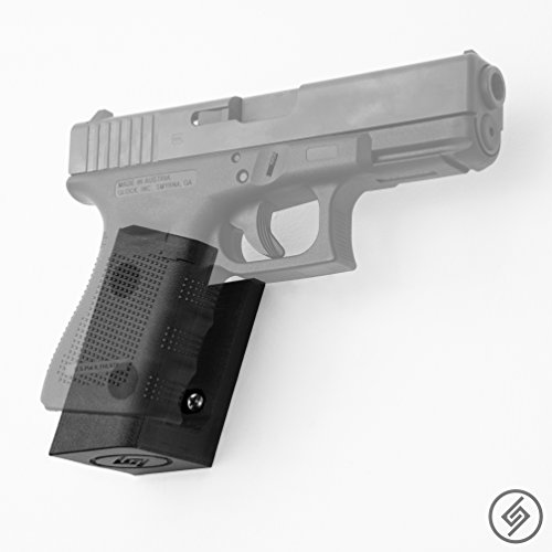Glock 17 19 26 31 32 33 34 Mount Right | Pistol Wall Display Storage Organization System | Unique Low Profile Design | Gun Safe Wall Garage | Gun Room Mounting Solution | Spartan Mounts