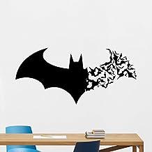 Batman Wall Decal Superhero Vinyl Sticker Marvel Comics Wall Art Design Housewares Kids Room Bedroom Decor Removable Wall Mural 3zzz