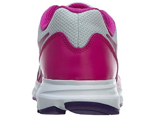 Nike Kids Downshifter 6 (gs / Ps) Scarpe Da Corsa Pr Platinum / Fchs Glow-fchs Flsh