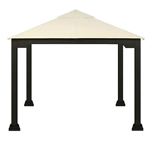 XtremepowerUS 10u2032 X 10u2032 Rattan Wicker Metal Patio Gazebo ...