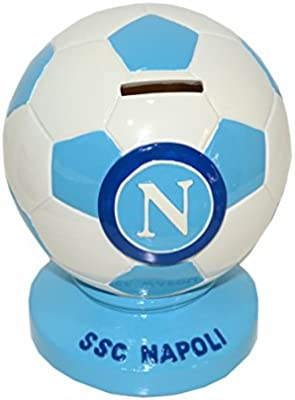 SSC Napoli Fútbol Hucha de cerámica Balón Bianco: Amazon.es: Hogar