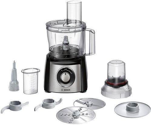 Bosch MCM3401M 800W 2.3L Negro, Acero inoxidable - Robot de cocina (2,3 L, Negro, Acero inoxidable, Giratorio, 1,2 m, De plástico, Acero inoxidable): Amazon.es: Hogar
