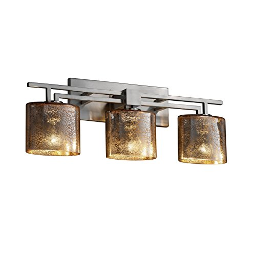 Justice Design Group Lighting  FSN-8703-30-MROR-NCKL Aero Three Light Bath Bar (Mercury 3 Light Bath)