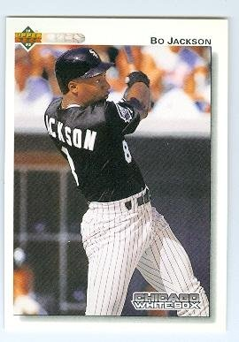 Bo Jackson Baseball Card Chicago White Sox Bo Knows 1992