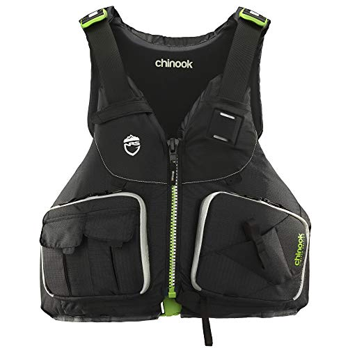 NRS Chinook Fishing Kayak Lifejacket (PFD)-Black-XL/XXL