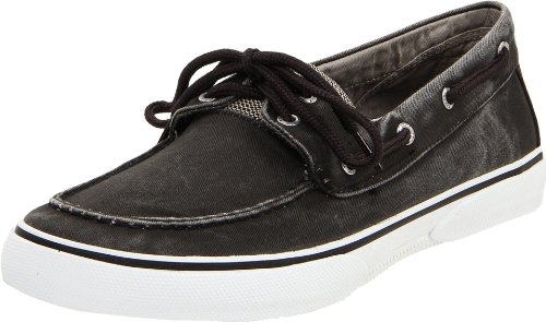 Sperry Top-Sider Halyard 2-Eye,Salt Washed Black,12 M - Salt Eye
