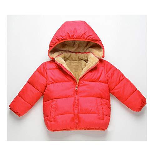 Stevenurr sweater Fleece Parkas Kids Jackets for Girls Boys Thick Velvet Children's Coat Baby Outerwear Infant Overcoat ()