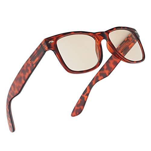 Square Anti-Reflective 50% Blue Blocking Anti Eyestrain Computer Eye Glasses with Optical RX Strength +1.0 Thru +3.0 (Tortoise, 2.25)