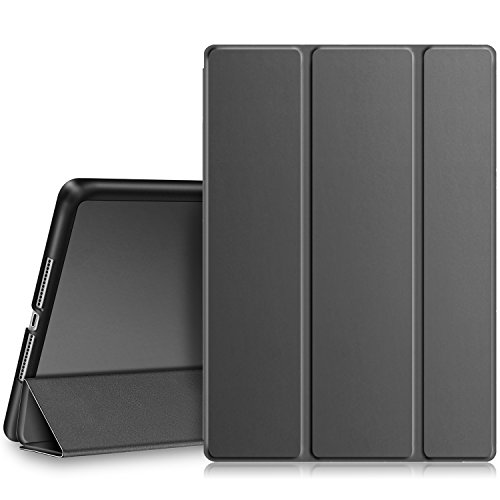(Fintie iPad 9.7 2018/2017 Case - Lightweight Slim Shell Standing Cover with Auto Wake/Sleep Feature for Apple iPad 6th / 5th Gen 9.7 Inch Tablet, Space Gray)