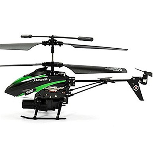 Wltoys V398 3.5CH RC Helicopter Missile Launching Rc Shooter Helicopter with Gyro Hobees Green