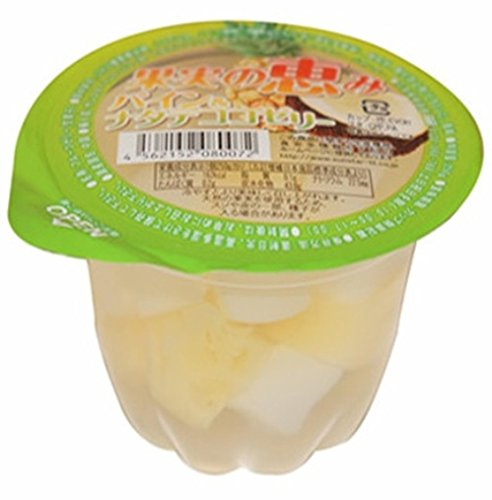 The grace of rain or shine fruit Pine & nata de coco jelly 250gX12 pieces