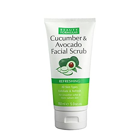 cucumber and avocado facial scrub