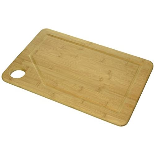 Kitchen Elite Extra Large Natural 18x12 Bamboo Cutting Board with Deep Drip Groove