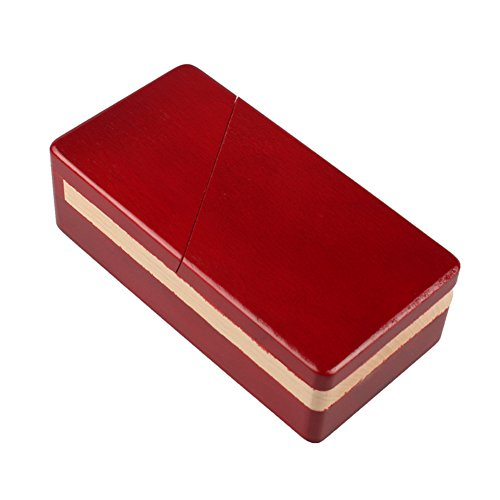 CYNDIE Large Mechanic Puzzle Caja de madera, madera de haya, desafiante para abrir, ideal para esconder joyas, aretes de...