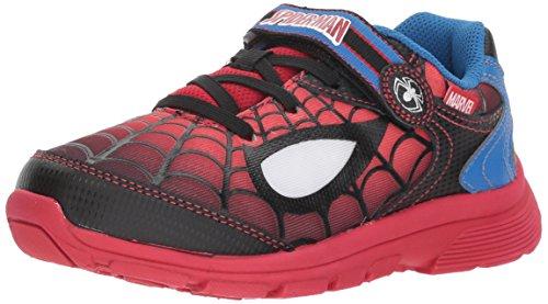 Stride Rite Boys' Spider-Man Spidey Eyes Sneaker, Red/Black, 6 Medium US Toddler -
