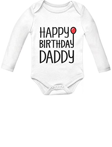 y Daddy Cute Boy/Girl Infant Dad's Gift Baby Long Sleeve Bodysuit 6M White ()